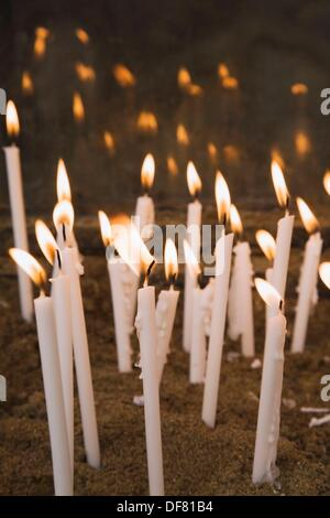 Votive candles at the Virgin Mary´s House Cultural Park, Meryemana, Ephesus, Turkey - Stock Photo
