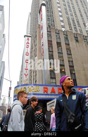 Radio City Music Hall in the Rockefeller Center. New York, New York. USA - Stock Photo
