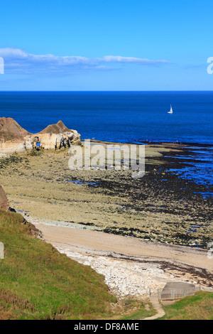 Thornwick Bay, Flamborough Head, East Yorkshire, England, UK. - Stock Photo