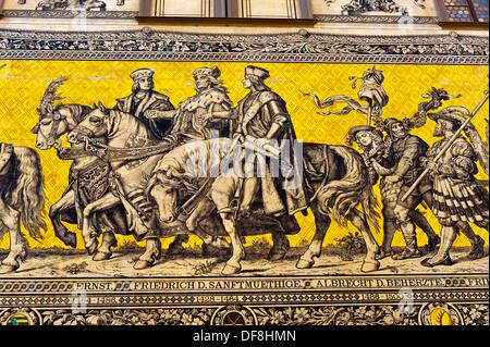 The 100 meter long Procession of Princes the largest porcelain image in the world, made up of 25,000 tiles which - Stock Photo