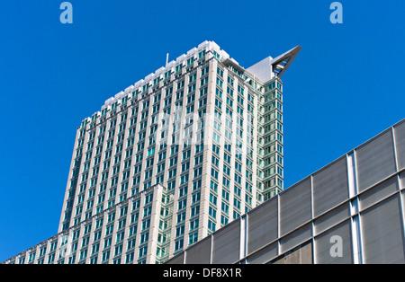 1250 René-Lévesque skyscraper in downtown Montreal, Quebec, Canada - Stock Photo