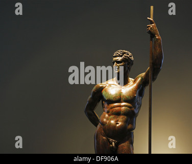 The bronze statue of a Hellenistic prince, Palazzo Massimo alle Terme, National Museum of Rome, Italy - Stock Photo