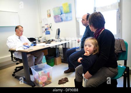 CHILD, DOWN'S SYNDROME - Stock Photo