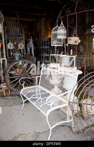 Vintage Garden Furniture On Display, Abbey Furniture, Walcot Street, Bath,  England