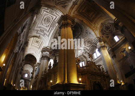 Jaen inside Cathedral,  Andalusia, Spain, Europe - Stock Photo