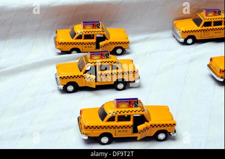 Toy Checker Taxi Cabs, New York City - Stock Photo
