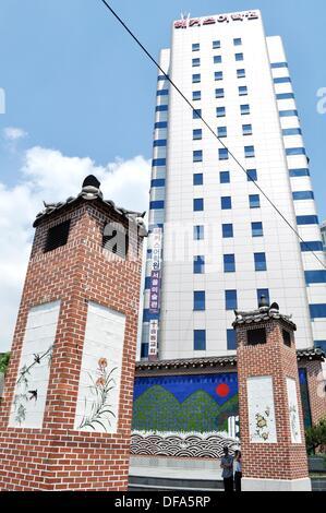 Seoul (South Korea): modern condo in Insadong - Stock Photo