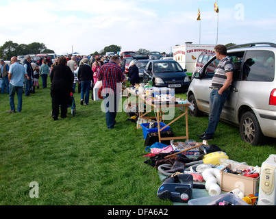 People Selling Items At A Car Boot Sale In Cowbridge