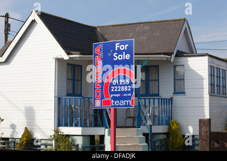 Jaywick, Brooklands Estate, Essex coastal town, considered the most deprived community in England, UK - Stock Photo