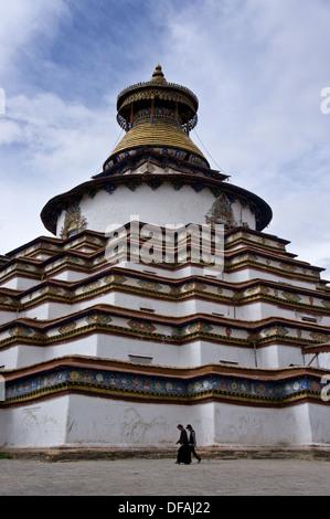 Kumbum Chörten, Palkhor Chöde, Palcho Monastery, Gyantse, Tibet - Stock Photo