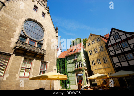 Church in Breite strasse street in Quedlinburg, Saxony-Anhalt, Germany - Stock Photo