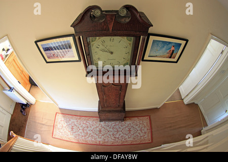 Grandfather clock in house hallway - Stock Photo