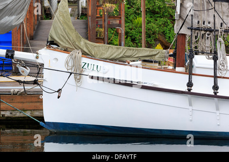 Center for Wooden Boats,Lake Union Park,Seattle,Washington State,USA - Stock Photo