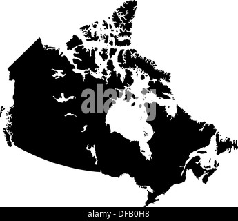 Black Canada map - Stock Photo