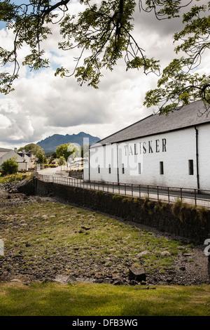 Talisker distillery in Carbost on the Isle of Skye