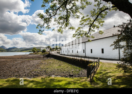 Talisker distillery in Carbost on the Isle of Skye in Scotland.
