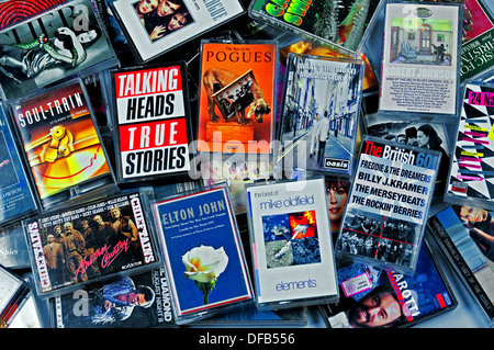 Music cassette tapes - Stock Photo