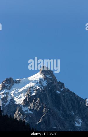 Mont Blanc, Chamonix, Aiguille du Midi Alps - Stock Photo