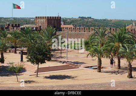 Moorish castle Silves Algarve Portugal - Stock Photo