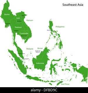Green Southeastern Asia - Stock Photo