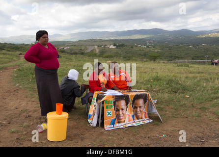 Chairperson Independant Electoral Committee South Africa Brigalia Bam visits a voting station near Nkandla where - Stock Photo