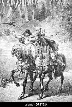 Ramon Berenguer II the Towhead or 'Cap de estopes'. (1053 or 1054 – 1082). Count of Barcelona. - Stock Photo