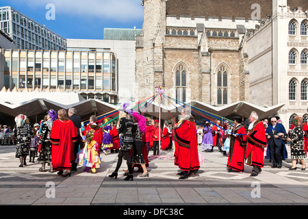 The Pearly Kings and Queens Costermongers Harvest Festival, London, England - Stock Photo
