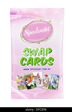 Spodooki cards - Children's Game - Picture Card - Stock Photo