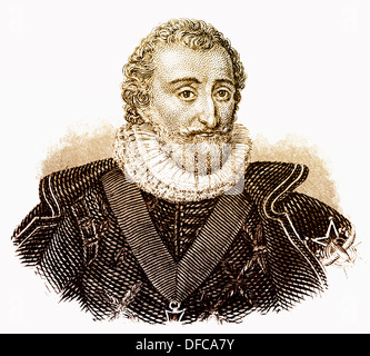 Portrait of Henry IV, 1553 - 1610, King of Navarre and France, House of Bourbon, - Stock Photo
