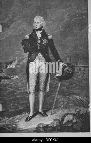 Horatio Nelson (1758 – 1805). British flag officer famous for his service in the Royal Navy. - Stock Photo