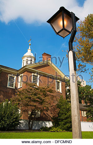 Carpenters´ Hall, Independence National Historical Park, Old City District, Philadelphia, Pennsylvania, USA - Stock Photo