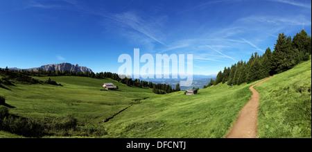 Italian mountain panorama in Tyrol - Stock Photo