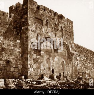 Jerusalem The Golden Gate probably 1870s - Stock Photo