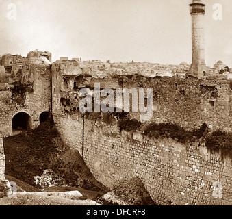 Jerusalem Pool of Bethesda probably 1870s - Stock Photo