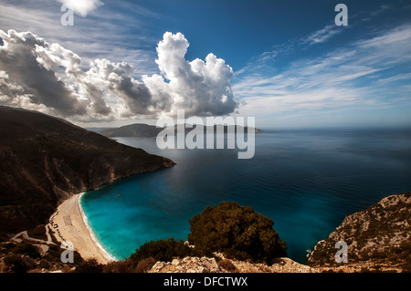 Myrtos Beach, Kefalonia Greece. - Stock Photo