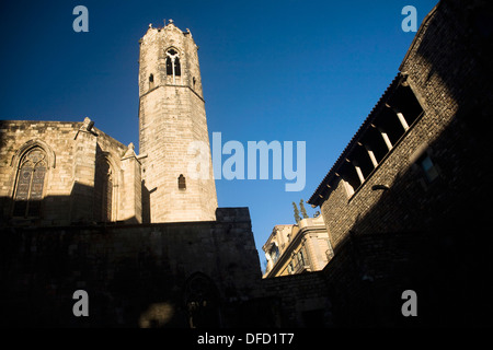 Capella de Santa Àgata, the Chapel of St Agatha, Ciutat Vella, Barcelona, Catalonia, Spain - Stock Photo