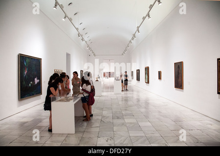 A gallery at Museo Nacional Centro de Arte Reina Sofía, - Stock Photo