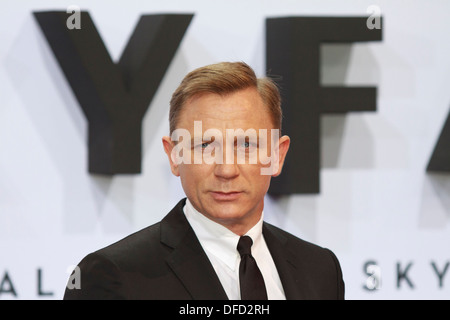 Actor Daniel Craig during ' Skyfall ' movie premiere in Berlin on 30th October 2012 - Stock Photo