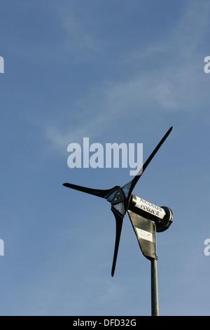 Wind turbine at Alvecote, near Tamworth, Warwickshire, England, UK - Stock Photo