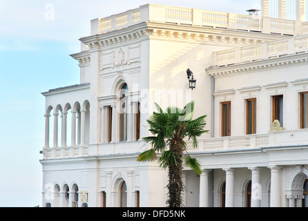 Livadia palace, Crimea, Ukraine. Location of the historic Yalta Conference at the end of World War II - Stock Photo