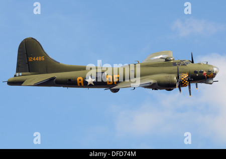 B-17 Flying Fortress G-BEDF Sally B is the last remaining airworthy B-17 in Europe. She is based in the UK from - Stock Photo