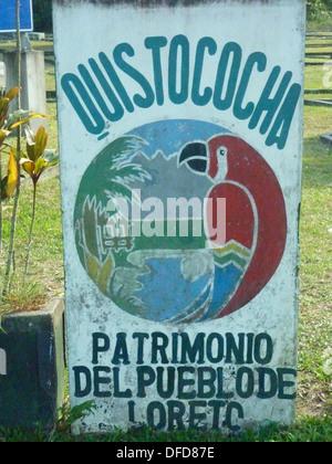 Quistacocha zoological park, near Iquitos, Peruvian Amazon - Stock Photo