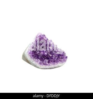 amethyst quartz crystal - Stock Photo