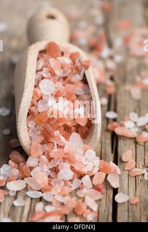 Himalayan pink salt - Stock Photo