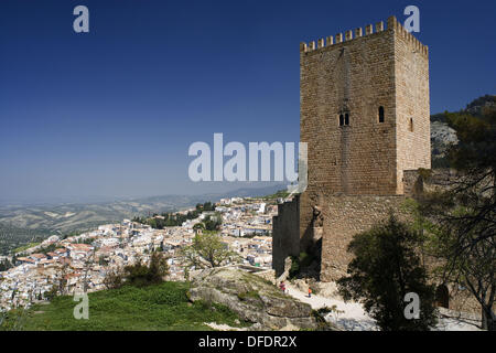Castle, Cazorla. Jaen province, Andalucia, Spain - Stock Photo