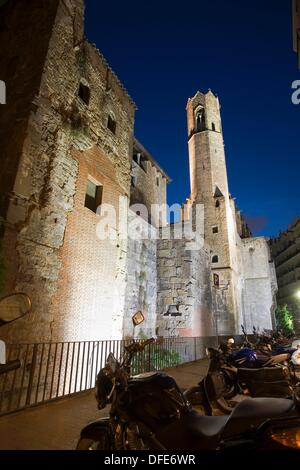 Chapel of St Agatha, Gothic quarter, Barcelona, Catalonia, Spain - Stock Photo