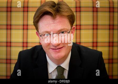 Edinburgh, UK. 3rd October 2013. Keynote speakers Danny Alexander MP, Chief Secretary to the Treasury, HM Government - Stock Photo