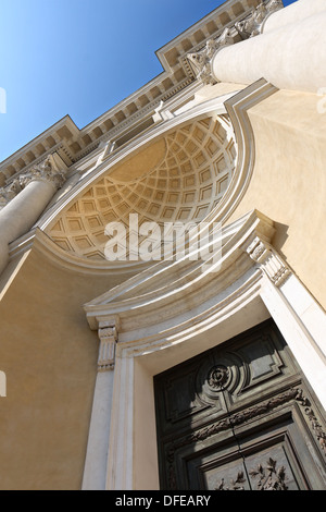 Church of  San Pietro, Piazza Giuseppe Garibaldi, Parma, Emilia-Romagna, Italy - Stock Photo