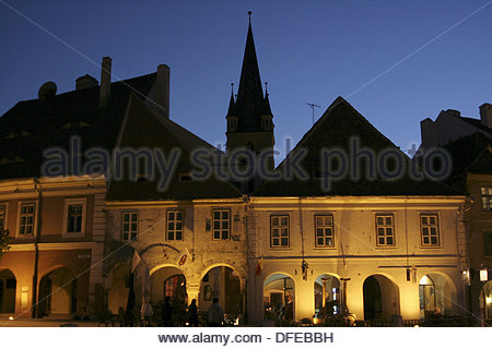 Sibiu European capital of culture  April  Romania - Stock Photo