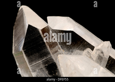 Clear Quartz twinned crystals - Stock Photo